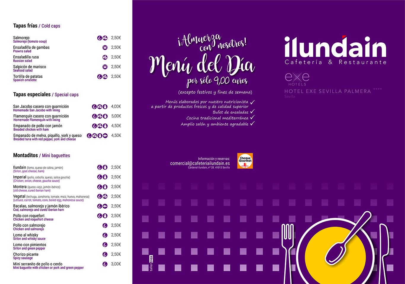 Carta Restaurante (Exterior)