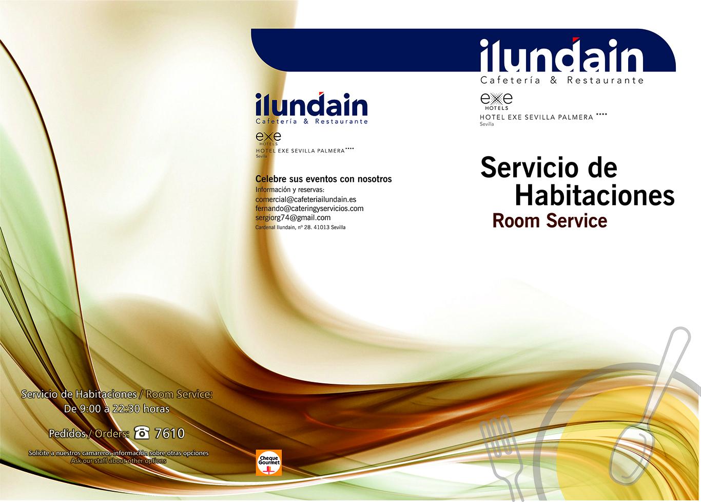 Carta Servicio de Habitaciones (Exterior)